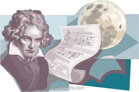 Ludwig van Beethoven Royalty Free Vector Clip Art illustration vc111669