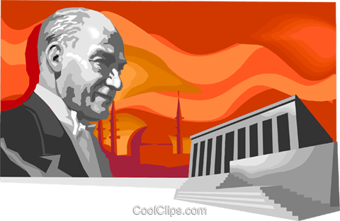 Ataturk  Founder of the Turkish Republic Royalty Free Vector Clip Art illustration vc111673
