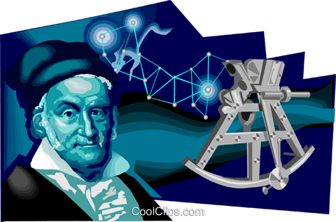 Carl Friedrich Gauss Royalty Free Vector Clip Art illustration vc111674