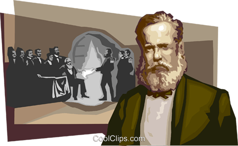 D. Pedro II, Emperor of Brazil Royalty Free Vector Clip Art illustration vc111675