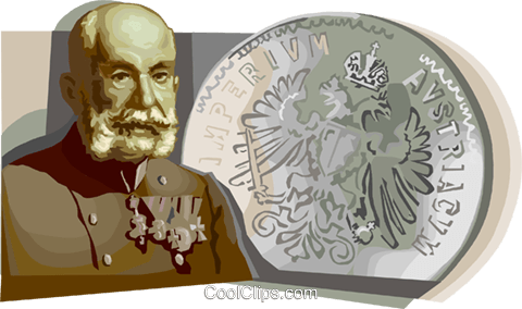 Franz Joseph, Emperor of Austria Hungary Royalty Free Vector Clip Art illustration vc111678