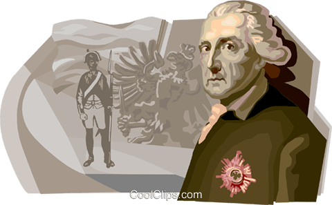 Friedrich II, The Prussia King Royalty Free Vector Clip Art illustration vc111679