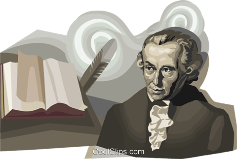 Immanuel Kant Royalty Free Vector Clip Art illustration vc111680