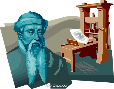Johannes Gutenberg Royalty Free Vector Clip Art illustration vc111681
