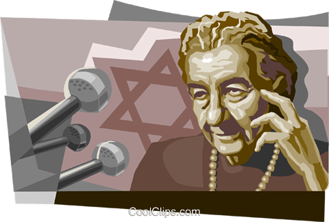 Golda Meir Royalty Free Vector Clip Art illustration vc111682