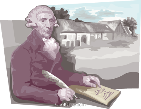 Franz Joseph Haydn Royalty Free Vector Clip Art illustration vc111685