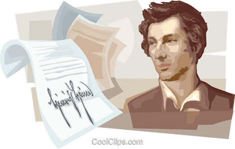 Heinrich Heine Royalty Free Vector Clip Art illustration vc111687