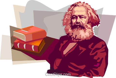 Karl Heinrich Marx Royalty Free Vector Clip Art illustration vc111691