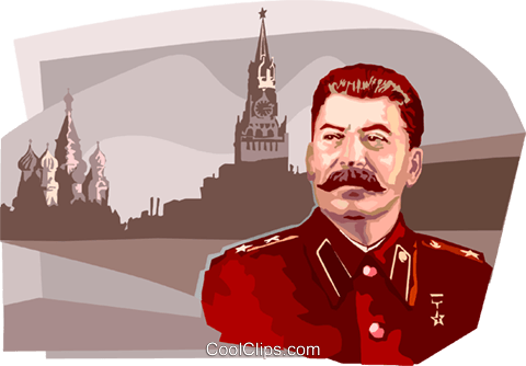 Joseph Stalin Royalty Free Vector Clip Art illustration vc111692