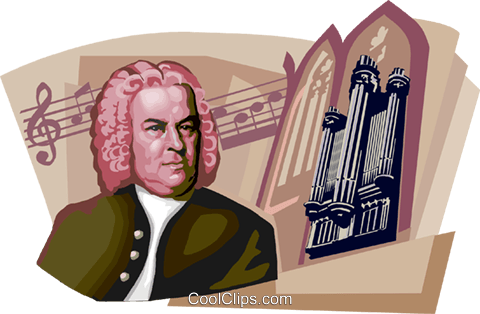 Johann Sebastian Bach Royalty Free Vector Clip Art illustration vc111693