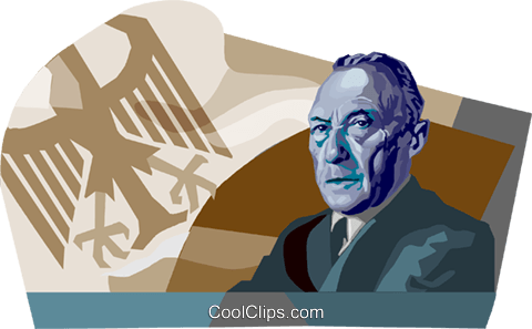 Konrad Adenauer Royalty Free Vector Clip Art illustration vc111694