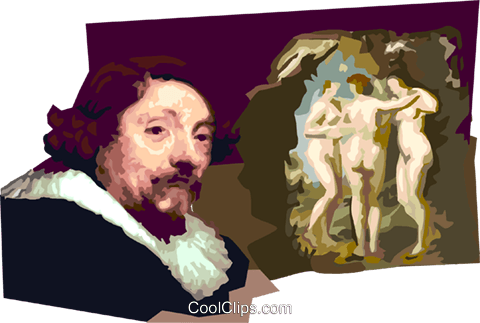 Peter Paul Rubens Royalty Free Vector Clip Art illustration vc111699
