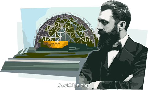 Theodor Herzl Royalty Free Vector Clip Art illustration vc111700