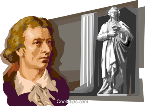 Friedrich von Schiller Royalty Free Vector Clip Art illustration vc111702