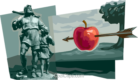 William Tell Royalty Free Vector Clip Art illustration vc111703