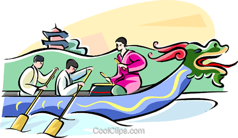 Dragon Boat Festival Royalty Free Vector Clip Art illustration vc111740