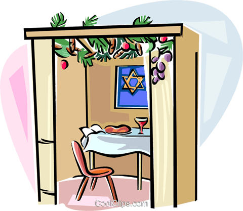 Sukkot The Time of our Rejoicing Sukka Royalty Free Vector Clip Art illustration vc111750
