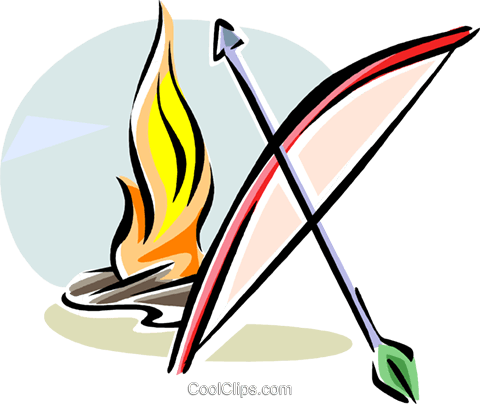 bow and arrow for Lag Ba'Omer Royalty Free Vector Clip Art illustration vc111752