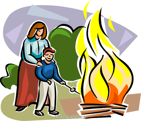 Lag Ba'Omer Fire party Royalty Free Vector Clip Art illustration vc111754