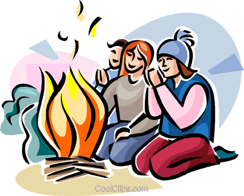 Lag Ba'Omer Fire party Royalty Free Vector Clip Art illustration vc111755