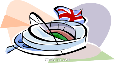 New Wembley Stadium Royalty Free Vector Clip Art illustration vc111757
