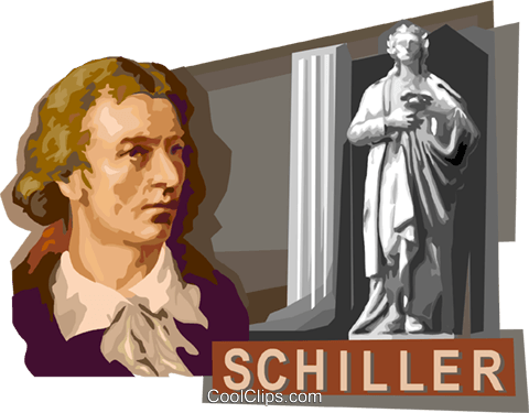 Friedrich von Schiller Royalty Free Vector Clip Art illustration vc111760