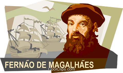 Ferdinand Magellan Royalty Free Vector Clip Art illustration vc111764