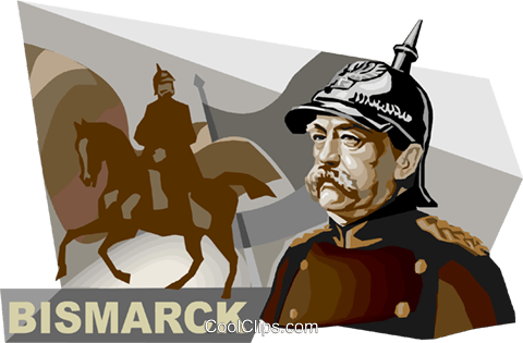 Otto von Bismarck Royalty Free Vector Clip Art illustration vc111766