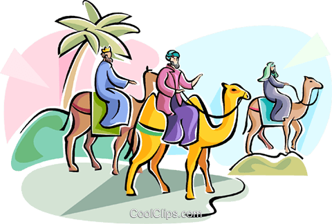 3 wise men Epiphany Royalty Free Vector Clip Art illustration vc111774