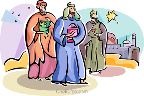 3 wise men Epiphany Royalty Free Vector Clip Art illustration vc111776