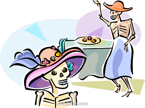 Día de Muertos Royalty Free Vector Clip Art illustration vc111778