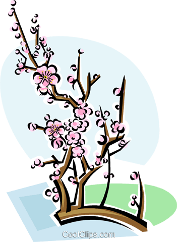 Chinese plum blossom Royalty Free Vector Clip Art illustration vc111788