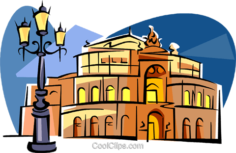 Germany Dresden Opera Royalty Free Vector Clip Art illustration vc111799