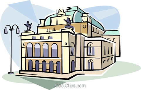 Vienna Opera houses Austria Royalty Free Vector Clip Art illustration vc111800