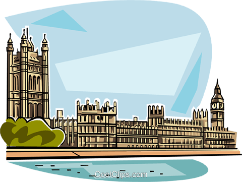Houses of Parliament Royalty Free Vector Clip Art illustration vc111831