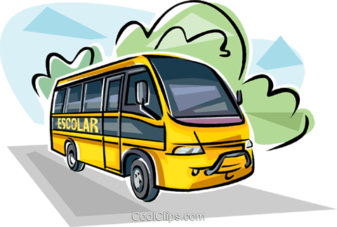 Brazilian School bus Royalty Free Vector Clip Art illustration vc111833