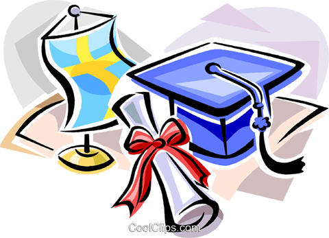 Swedish graduation hat Royalty Free Vector Clip Art illustration vc111836