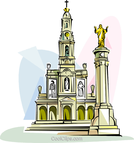 Sanctuary of Fatima Royalty Free Vector Clip Art illustration vc111858