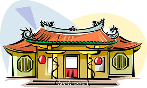 Taiwanese Temple Royalty Free Vector Clip Art illustration vc111859