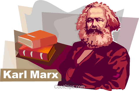 Karl Heinrich Marx Royalty Free Vector Clip Art illustration vc111868