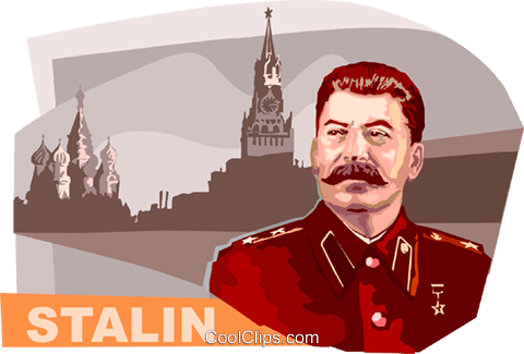 Joseph Stalin Royalty Free Vector Clip Art illustration vc111869