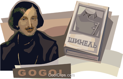 Nikolay Gogol Royalty Free Vector Clip Art illustration vc111874