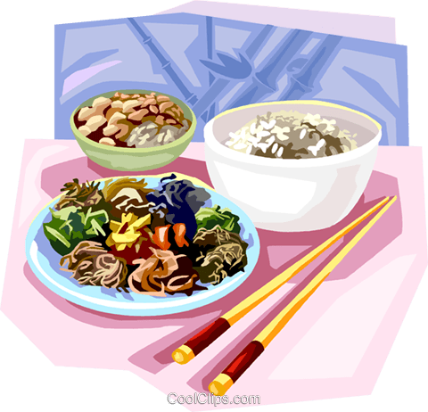 Korean boiled rice Royalty Free Vector Clip Art illustration vc111876