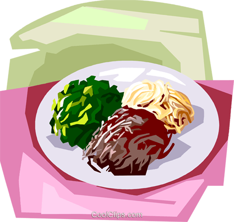 Korean Cooked vegetables Royalty Free Vector Clip Art illustration vc111878