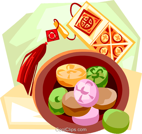 Korean candy Royalty Free Vector Clip Art illustration vc111879