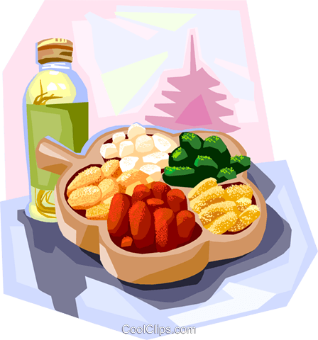Korean fried glutinous rice cake Royalty Free Vector Clip Art illustration vc111880
