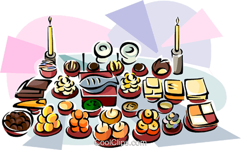 Ch'usok food, Korean Harvest Day dinner Royalty Free Vector Clip Art illustration vc111884