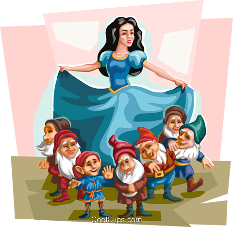 Snow White fable Royalty Free Vector Clip Art illustration vc111902