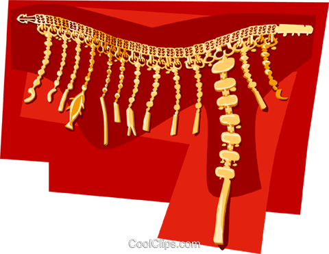 Korean Gold belt for king Silla period Royalty Free Vector Clip Art illustration vc111907