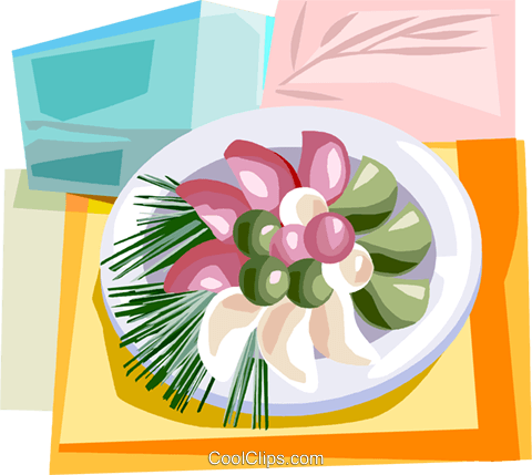 Korean Food Royalty Free Vector Clip Art illustration vc111917
